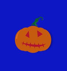 halloween pumpkin on a blue background vector image