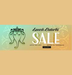happy ganesh chaturthi festival sale banner design vector image