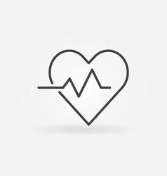 Heart cardiogram concept icon - heartbeat vector