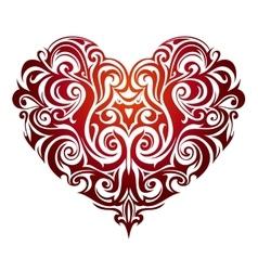 Heart shape ornament vector image