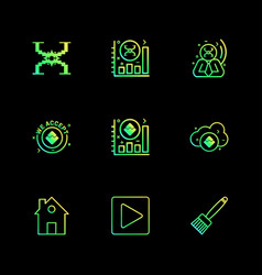 Home play brush crypto currency money crypto vector