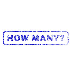 How many question rubber stamp vector
