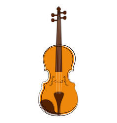 Isolated violin sketch musical instrument vector