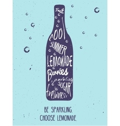 Lemonade vintage card vector