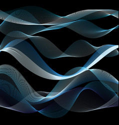 light waves from lines vector image