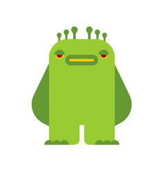 Little green monster isolated beast vector