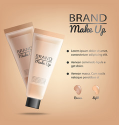 Make-up product promotional banner vector