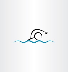 man swimming icon vector image