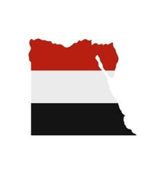 Map of Egypt with the image of the national flag vector image