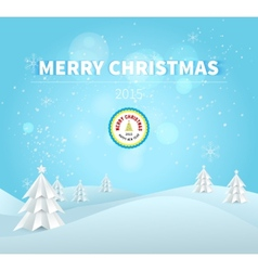 Merry Christmas 2015 greeting card vector image