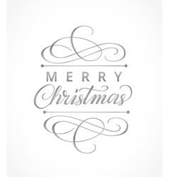 Merry christmas card with typographic design vector