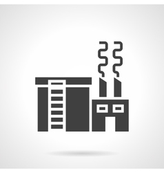 Metallurgical industry glyph style icon vector