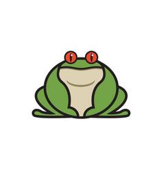 Mighty sumo frog logo mascot vector