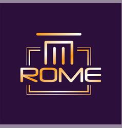 Minimalist logo of rome city in gradient color vector