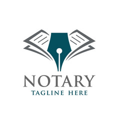 Modern notary or law firm logo vector