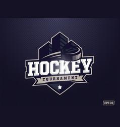 modern professional hockey logo for sport team vector image