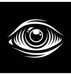Monochrome eye vector