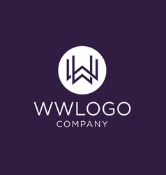 monogram initial ww logo design inspiration vector image