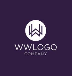 monogram initial ww logo design inspiration vector image