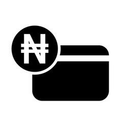 nigerian naira credit card icon vector image