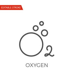 oxygen icon vector image