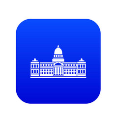 Palace congress argentina icon digital blue vector