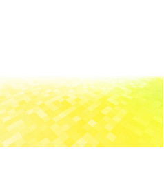 perspective abstract yellow tile pattern vector image