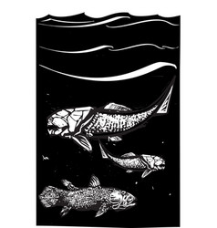 prehistoric fish vector image