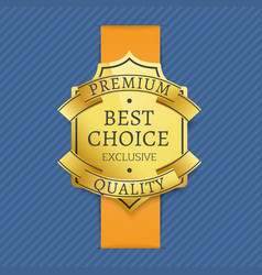 premium best choice exclusive quality golden label vector image