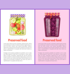 Preserved food pickles vector