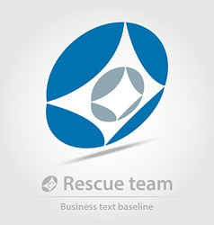Rescue team business icon vector image