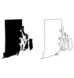 rhode island ri state map usa with capital city vector image