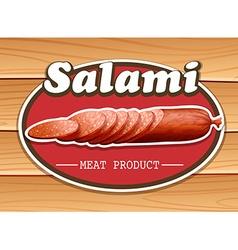 Salami vector image