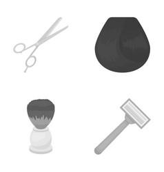 Scissors brush razor and other equipment vector