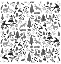 seamless Christmas pattern Stylized vector image