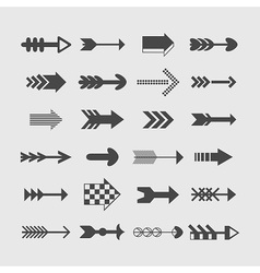 Set of direction arrows icons vector