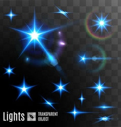 Set of transparent stars vector image