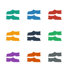 Slippers icon white background vector