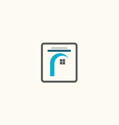 square window icon logo vector image