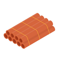 stacked orange sanitary pvc pipes isolated on vector image