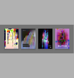 Stock glitch style computer vector