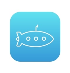 Submarine line icon vector
