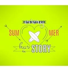 Surfing summer lettering design Cool vector