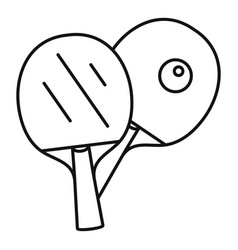 table tennis paddle icon outline style vector image