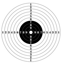 target for shooting vector image