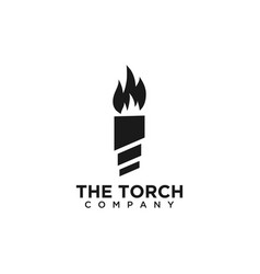 the torch logo design template vector image