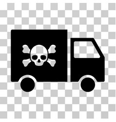 toxic transportation car icon vector image vector image