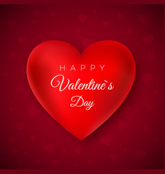 valentines day greeting card happy valentines day vector image