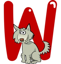 W wolf vector image