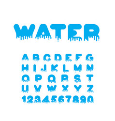 water liquid font aqua alphabet viscous letters vector image